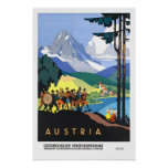 Viagens vintage, Áustria Poster