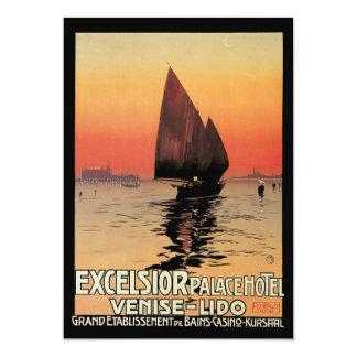 Viagens vintage, barcos no palácio Veneza das Convite