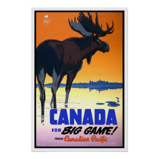Viagens vintage, canadense Paciffic Poster