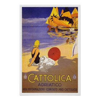 Viagens vintage, Cattolica Poster