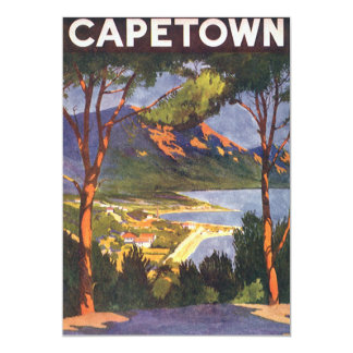 Viagens vintage, convite de Cape Town, África do