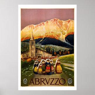 Viagens vintage de Abruzzo Italia