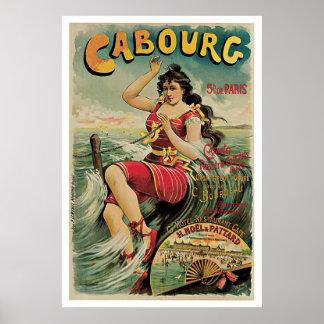 Viagens vintage de Cabourg France Poster