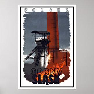 Viagens vintage de Gorny Slask do Polônia de Poster