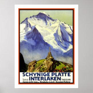 Viagens vintage de Interlaken Poster