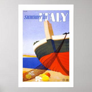 Viagens vintage de Italia Poster