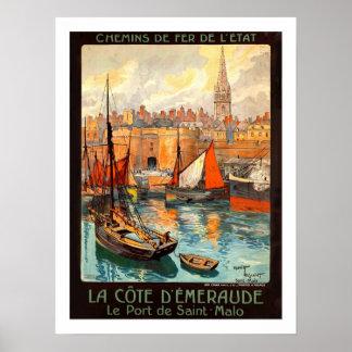 Viagens vintage de Malo do santo Posters