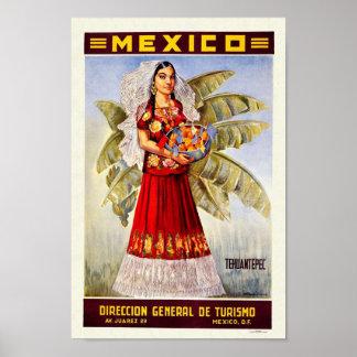 Viagens vintage de México Pôsteres