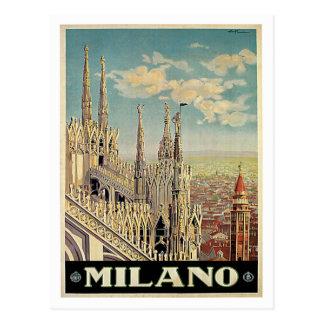 Viagens vintage de Milão Milão Italia Cartoes Postais