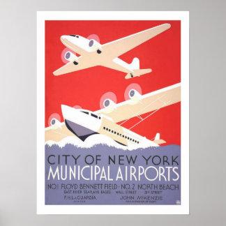 Viagens vintage de New York Impressão
