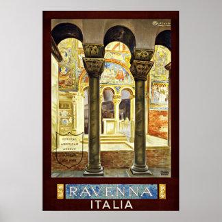 Viagens vintage de Ravenna Italia Italia Posters