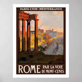 Viagens vintage de Roma Poster