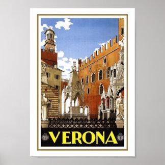 Viagens vintage de Verona Poster