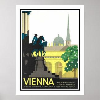 Viagens vintage de Viena Poster