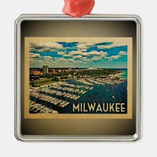 Viagens vintage do ornamento de Milwaukee