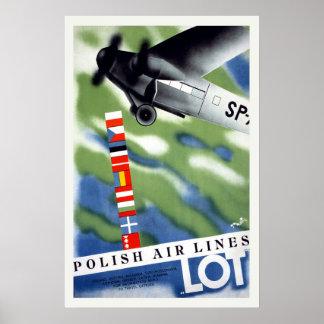 Viagens vintage do Polônia Poster