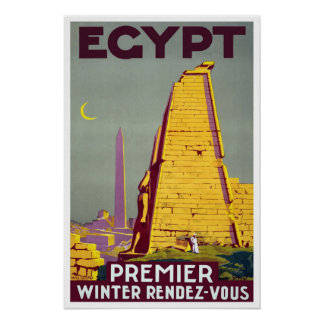 Viagens vintage, Egipto Poster