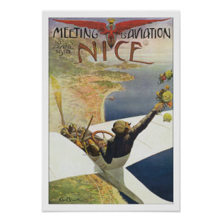 Viagens vintage France agradável Poster