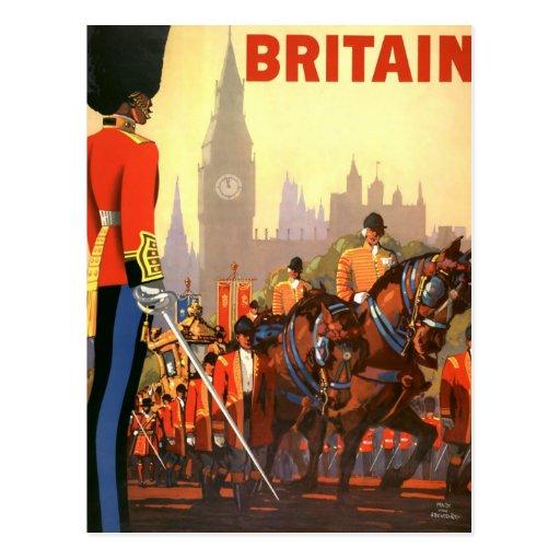 Viagens vintage, Grâ Bretanha Inglaterra, guarda r Cartão Postal