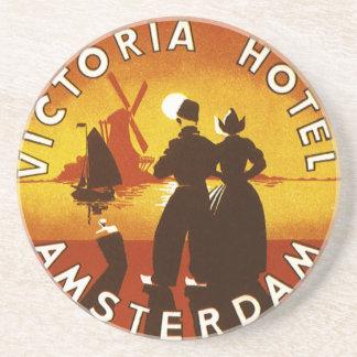 Viagens vintage, hotel de Victoria, Amsterdão, Porta-copos