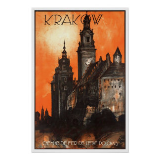 Viagens vintage, Krakow Poster