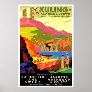 Viagens vintage, Kuling China Poster