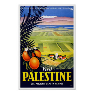 Viagens vintage, Palestina Impressão