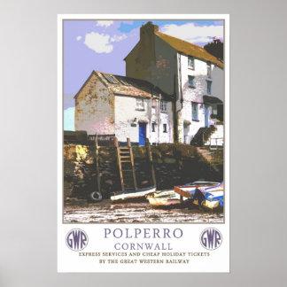 Viagens vintage, Polperro. Posteres