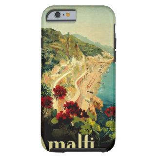 Viagens vintage, praia italiana da costa de Amalfi Capa Tough Para iPhone 6