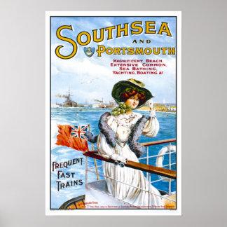 Viagens vintage, Southsea Poster