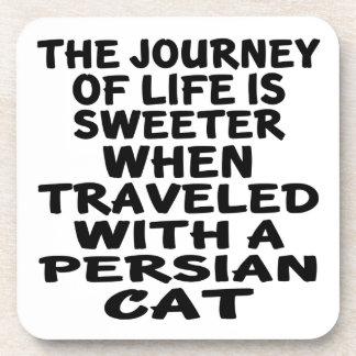 Viajado com gato persa porta-copo