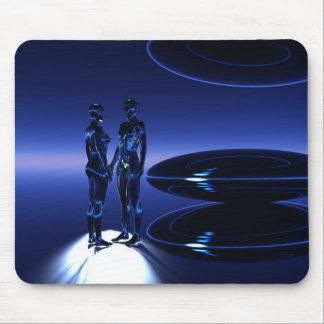 Viajantes do tempo e do espaço mouse pad