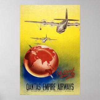 Vias aéreas do império do impressão do poster vint