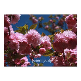 Vibração do partido de jardim convite 12.7 x 17.78cm