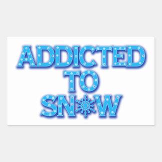 Viciado à neve adesivo retangular