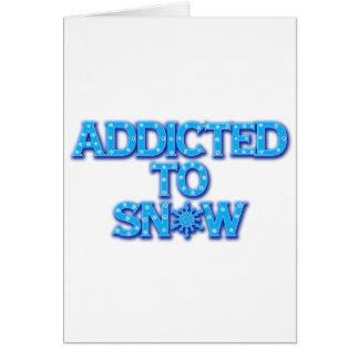 Viciado à neve cartão comemorativo