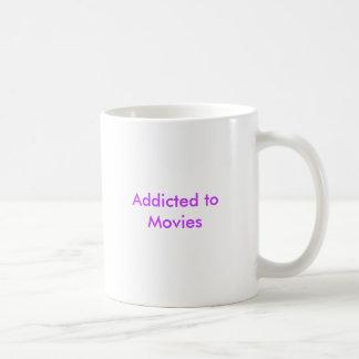 Viciado aos filmes caneca de café