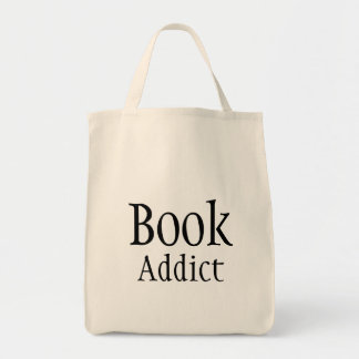 Viciado do livro sacola tote de mercado