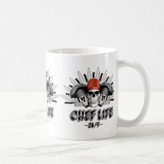 Vida 24/7 do cozinheiro chefe caneca de café