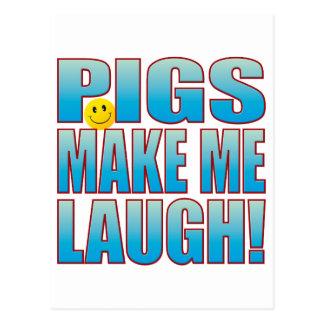 Vida B do riso dos porcos Cartão Postal