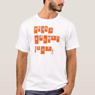 Vida das rimas das batidas t-shirt