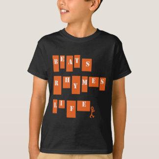 Vida das rimas das batidas t-shirts