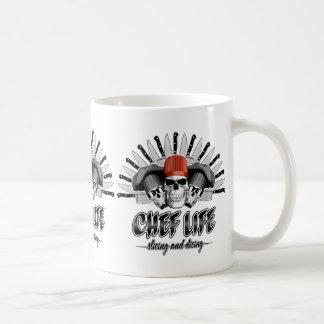Vida do cozinheiro chefe: Corte e corte em cubos Caneca De Café