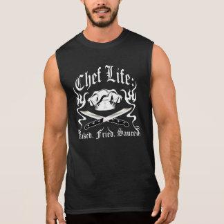 Vida do cozinheiro chefe: Cozido. Fritado. Sauced. Camisetas Sem Manga