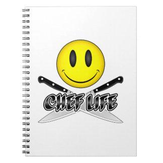 Vida do cozinheiro chefe: Smiley do cozinheiro Cadernos Espiral