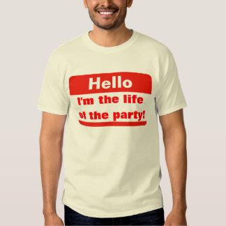 Vida do partido t-shirt