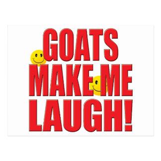 Vida do riso das cabras cartão postal