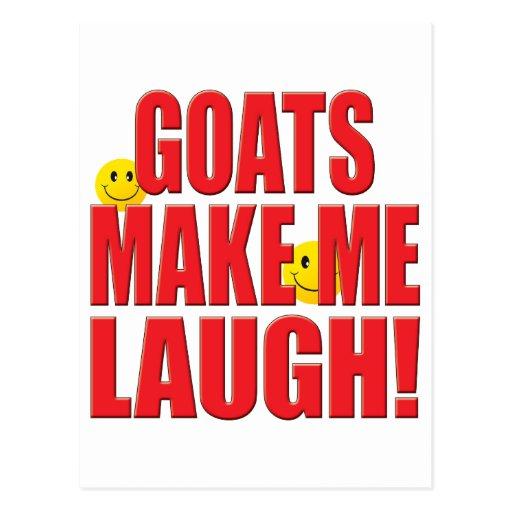 Vida do riso das cabras cartoes postais
