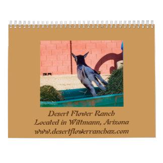 Vida em um rancho da flor do rancho w/Desert - Calendário