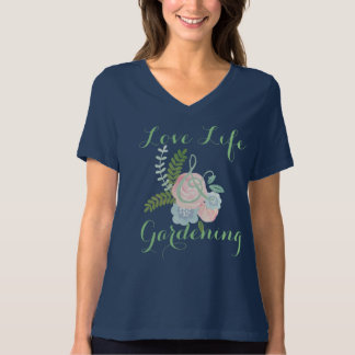 Vida & jardinagem do amor t-shirt